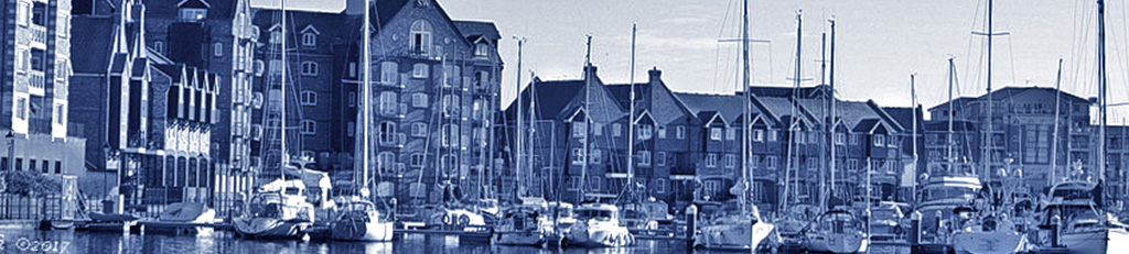 View of Sovereign Harbour, Eastbourne